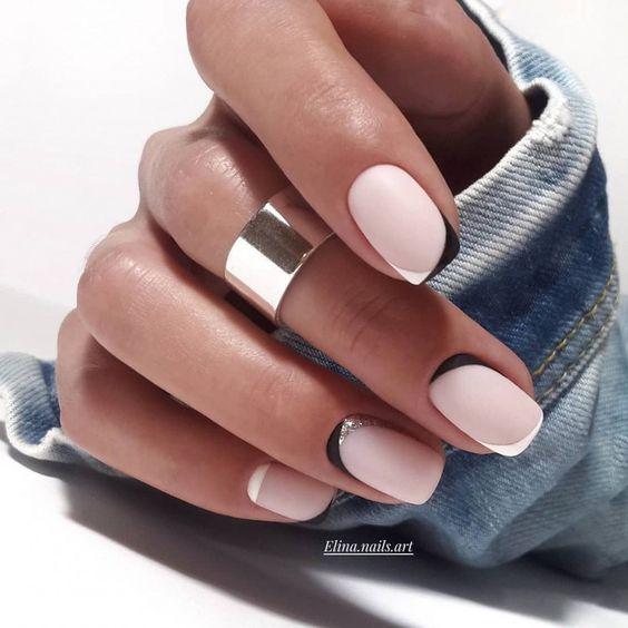 квадратные ногти летний маникюр