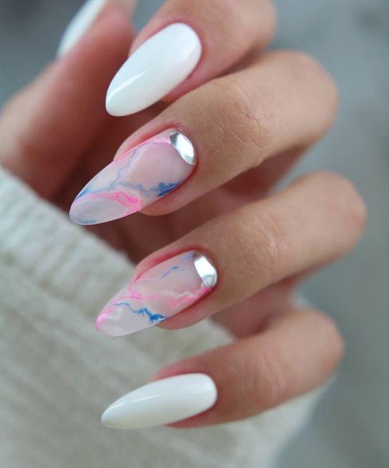 миндальная форма ногтей маникюр