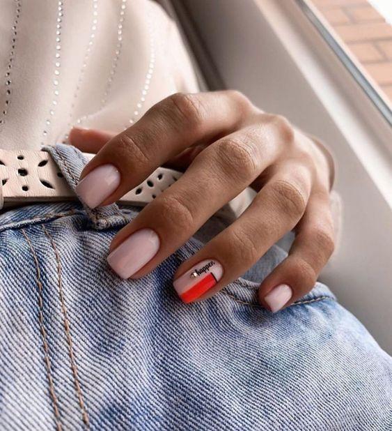 модный дизайн ногтей квадрат