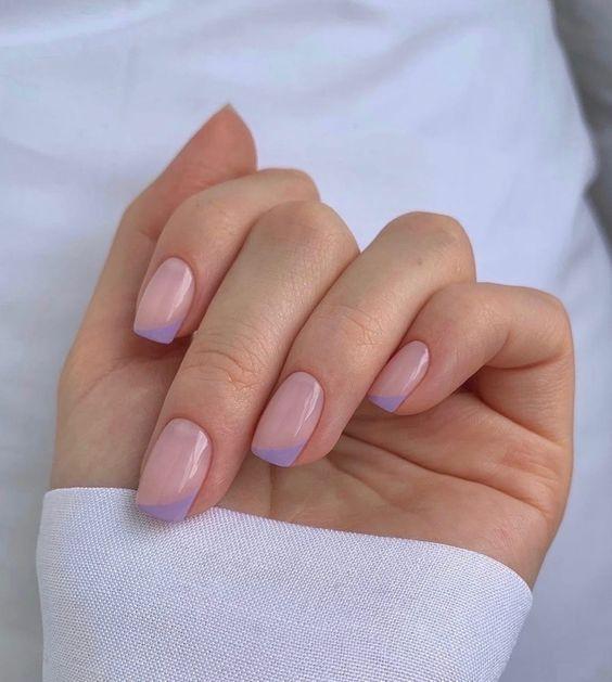 французский маникюр на квадратные ногти