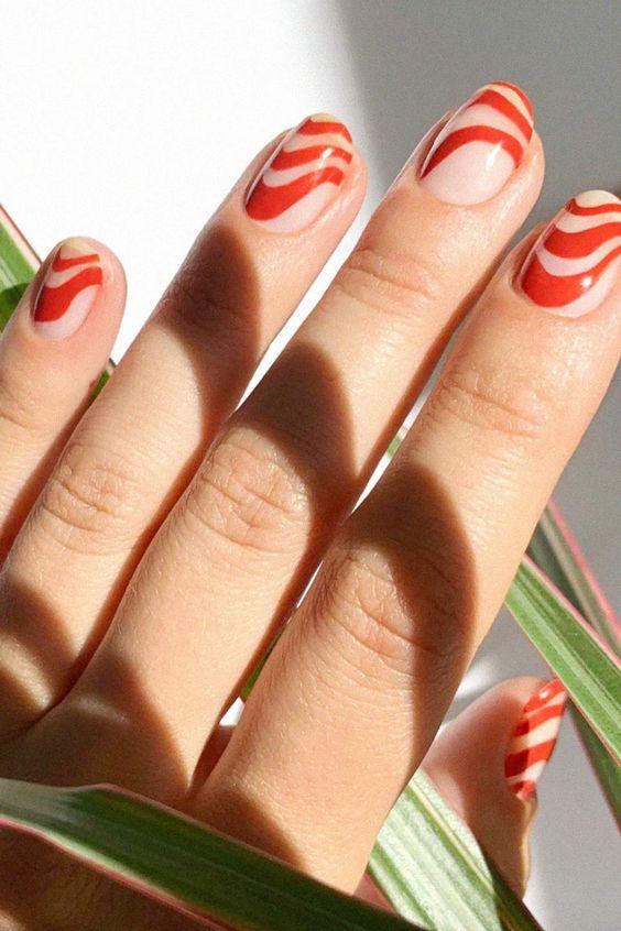терракотовый цвет ногтей